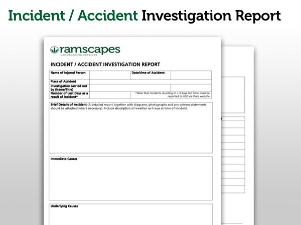 Accident Investigation Form Template  ApigramCom