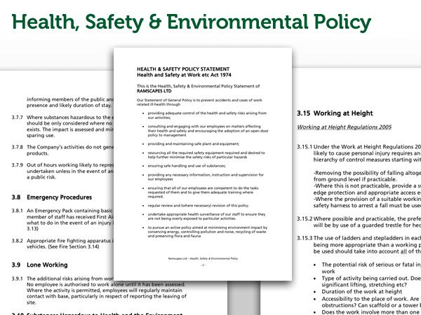 template privacy policy statement template health safety ramscapes landscaping services