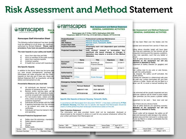 Safety ...  Method Statements Template